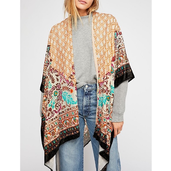 NWT Free People C'est La Vie Burnout Kimono